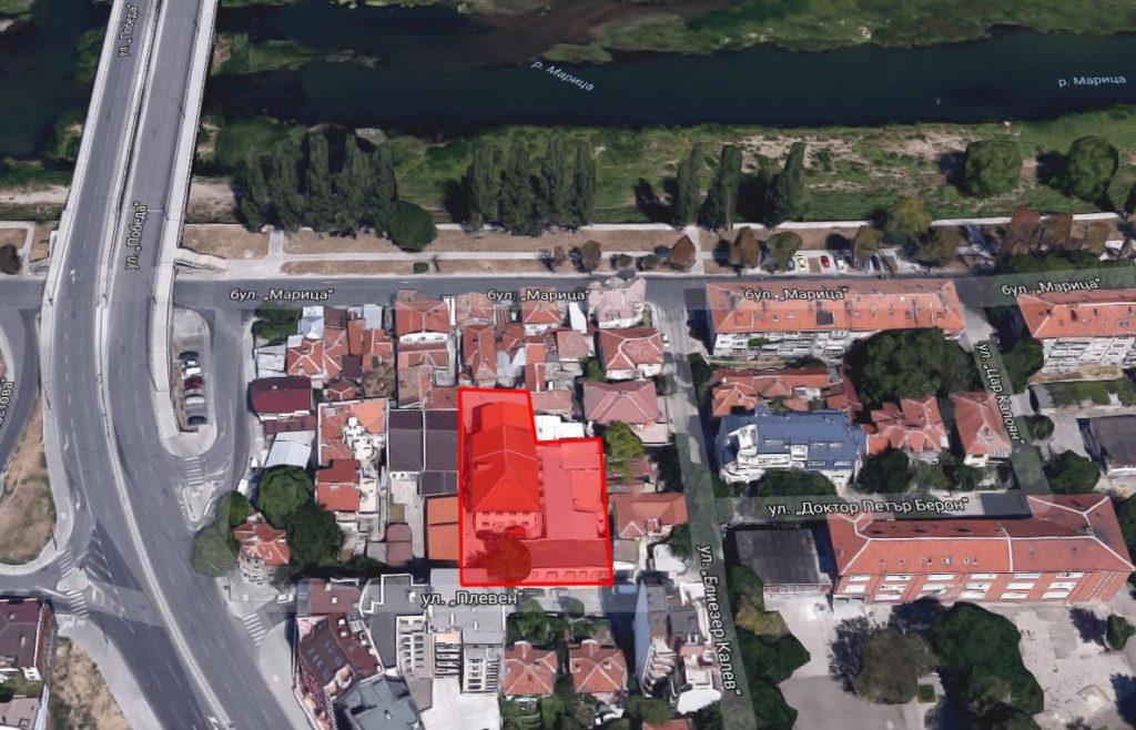 Местоположение на жилищен комплекс River Side - Пловдив